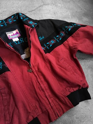 ortega patterned switching blouson