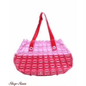 インフラットデコ/inflat Decor シェルスタイルバッグS (ピンク×レッド)