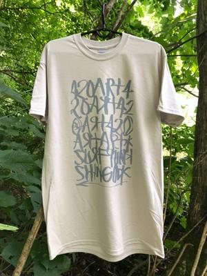 OUTFLOW / 15 ANV   Shingo 420  x  Fire Logo  T-shirt     Ice Grey / Grey