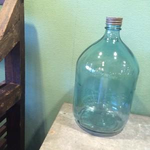 レトロ ガラス瓶 青
