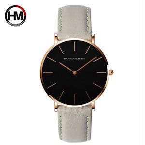シンプルジャパンクォーツムーブメントウォッチレザーストラップナイロン時計女性アナログ防水腕時計CH36-FQ