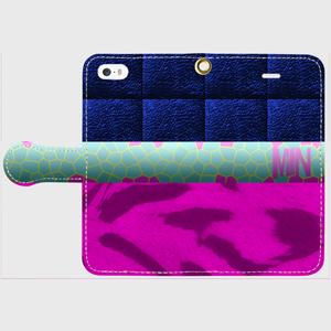 iPhone5/5s/SE用手帳型ケースMINVwild 手帳型スマホケース