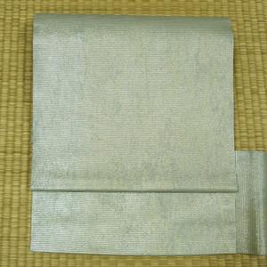 夏用 淡い水色に金糸織り 名古屋帯