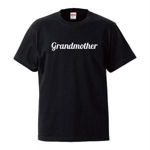 ★敬老の日に★Grandmother おばあちゃん Tシャツ-Black-