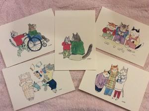 ポストカードセット 家族の日常(5枚)Vol.1