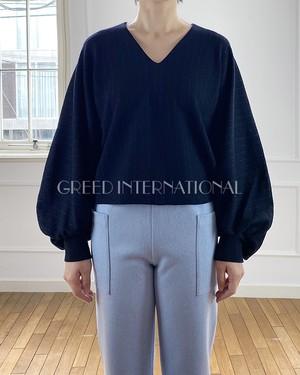 [送料無料] GREED(グリード) Super 120s Wool Stripe Jacquard トップス 2020秋冬物新作