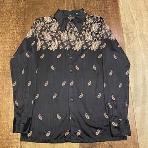 vintage shirt サテンシャツ M