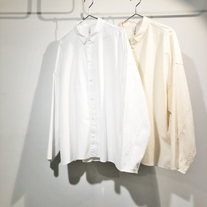 FIRMUM 【フィルマム】 20s ROUGH COTTON SHEETING OVERSIZED SHIRT