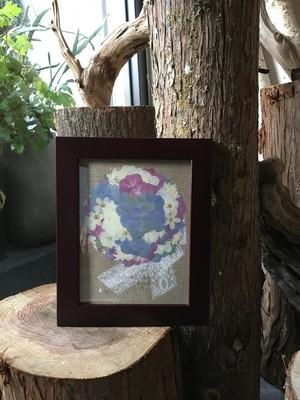 プレスフラワー フレーム付き押し花