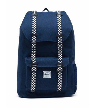 Herschel ハーシェル  Little America Youth backpack medieval blue crosshatch/checkerboard