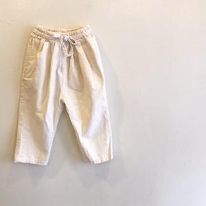 コットンパンツ☆オフホワイト ラスト1点90サイズ
