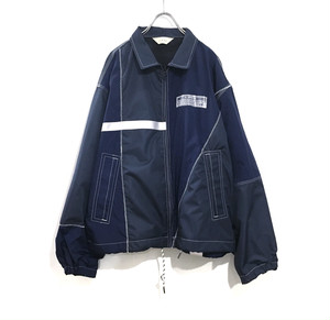 JieDa nylon switching jacket NAVY