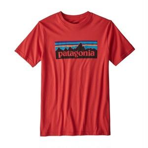 パタゴニア ボーイズ・P-6ロゴ・オーガニック・Tシャツ ( FRE カラー ) パタゴニア キッズ