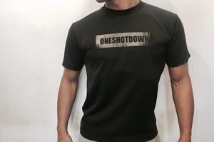 ONESHOTDOWN ボックスロゴ ドライTシャツ