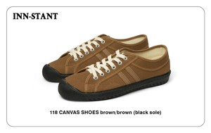 #118 CANVAS SHOES brown/brown (black sole) INN-STANT インスタント 【消費税込・送料無料】