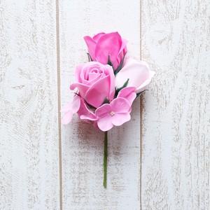 バラ大輪【Pink】バスフラワー 入浴剤 プレゼント 誕生日 贈り物 花 サプライズ ブーケ 母の日ギフト