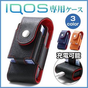 iQOS アイコス 専用 ケース レザー ベルト ポーチ ツートン 新型 iQOS 2.4 Plus グローケース glo対応