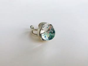 hemisphere ring -marble-