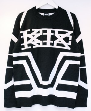 KTZ KNITTED SKI JUMPER A ニッテッド スキー ジャンパー A / BLACK 65%OFF