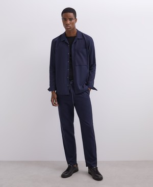 LYOCELL AND COTTON TWILL OVERSHIRT [120181648102]