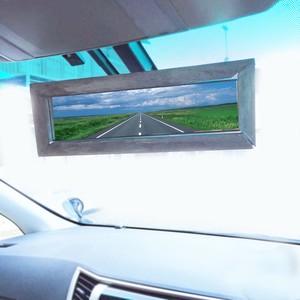 【オシャレ】車内用アンティーク風ルームミラー 木製