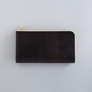 【受注製作】革の財布L ブライドル チョコ