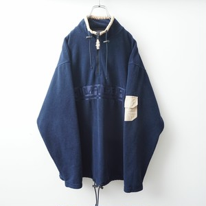 90s TOMMY HILFIGER half-zip navy freeze jacket 1902