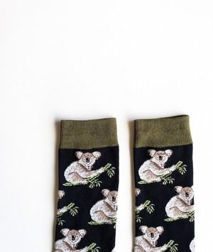 男女兼用ソックス「夜コアラ」/ unisex socks 'night Koala'