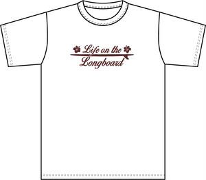 Life on the LongboadオリジナルTシャツ:デザインC(ホワイト)