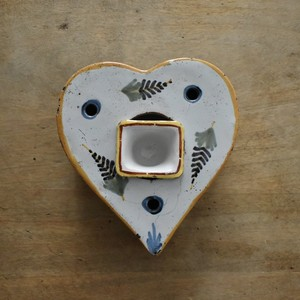 Faience Heart Inkwell