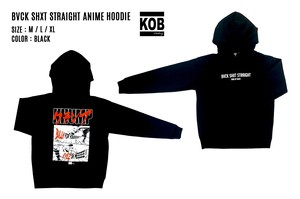 BVCK SHXT STRAIGHT ANIME HOODIE