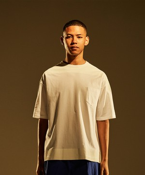 Product Print Wide Tee -white <LSD-BJ1T6>