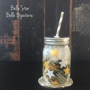 A3@1198(税別)【ガラス】 BelleStar ホワイト×マットゴールド