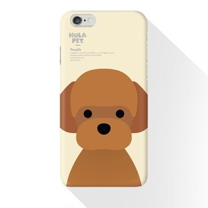 smartphone case  犬シリーズ(Poodle正面・大)