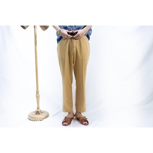 vintage cream baige poly slacks
