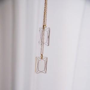 アクリルダイヤモンド一粒ネックレス