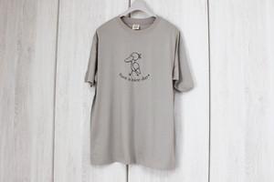オーガニックコットンTシャツ☆ハシビロコウ☆ベージュXL