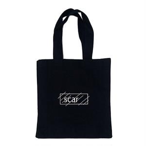 scar /////// OG LOGO SQUARE BIG TOTE BAG (Black)