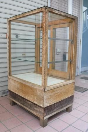 レトロな木枠のガラスケース【配送不可商品】(0404110)