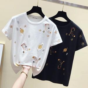 galaxy 刺繍デザインTシャツ c3276