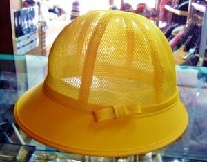 №1437  オールメッシュ・黄帽子
