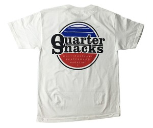 Quarter snacks MAGAZINE TEE WHITE