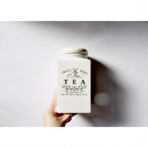 【キャニスター】茶葉入れ TEA 保存容器 貫入 希少