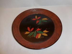 漆竹の葉模様小盆 Urushi lacquer try(bamboo)