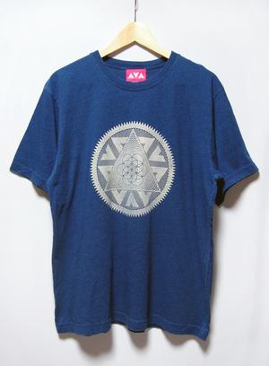 インディゴプリントTシャツ