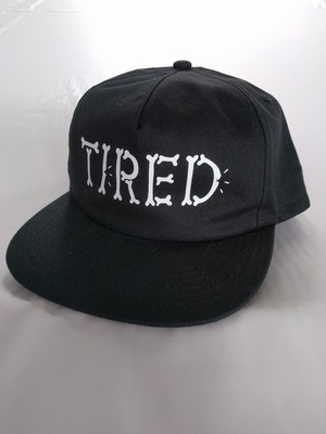 Tired(タイレッド)BONES EMBOIDERED HAT カラーBLACK