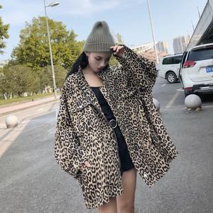 【outer】ファッションヒョウ柄シングルブレストジャケット23685499