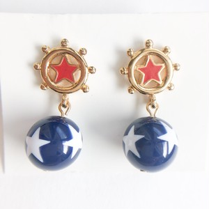 """AVON"" Star Spangle Dangle pierce[p-688] ヴィンテージピアス"