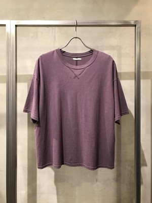 T/f loose fit T-shirt - matured berry / past white effect
