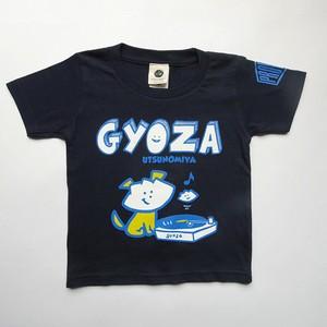 Tシャツ キッズ レコード GYOZA ネイビー